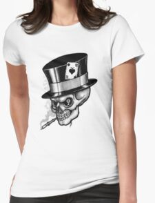 Scary Skull Womens Fitted T-Shirt