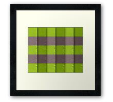 Layered Green Ribbon background Framed Print