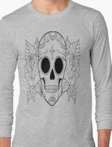 Fashion Skull with cross Long Sleeve T-Shirt