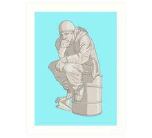 Thinkin' Pinkman Art Print