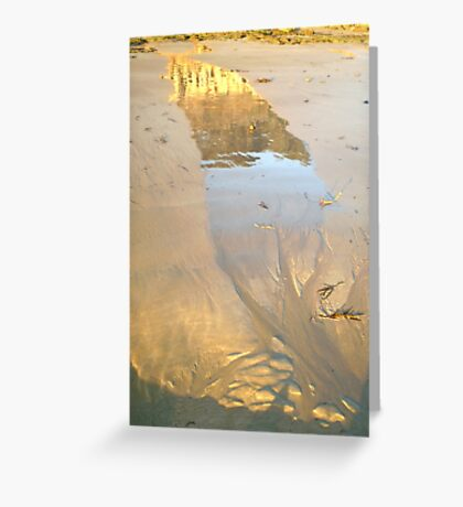Molten Reflection 4 Greeting Card