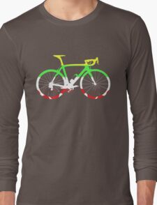Bike Tour de France Jerseys (Horizontal) (Big)  Long Sleeve T-Shirt