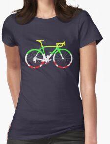 Bike Tour de France Jerseys (Horizontal) (Big)  Womens Fitted T-Shirt