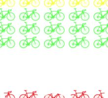 Bike Tour de France Jerseys (Horizontal) (Small) Sticker