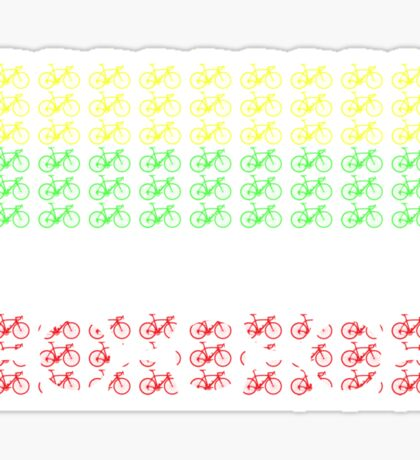 Bike Tour de France Jerseys (Horizontal) (Small) Sticker