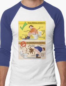 Great Shitting Techniques Men's Baseball ¾ T-Shirt