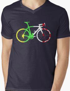 Bike Tour de France Jerseys (Vertical) (Big)  Mens V-Neck T-Shirt