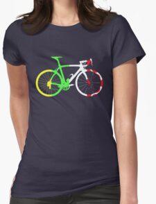 Bike Tour de France Jerseys (Vertical) (Big)  Womens Fitted T-Shirt