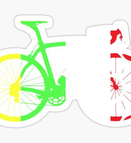 Bike Tour de France Jerseys (Vertical) (Big)  Sticker