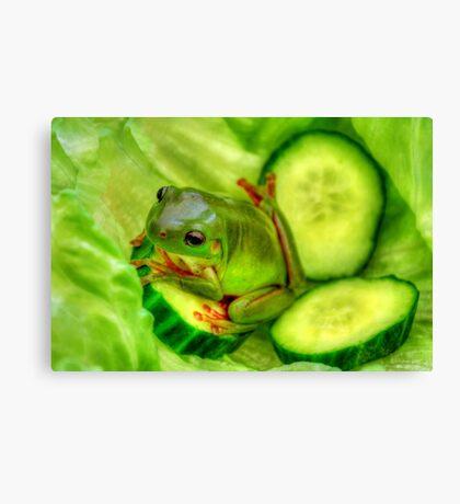 Frog Salad Canvas Print