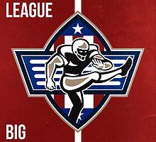 American Football Placekicker Super League Poster Art by patrimonio