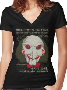 Time to Play !  Women's Fitted V-Neck T-Shirt