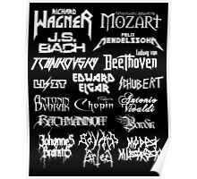 Heavy Metal-style Classical Composers Poster