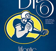 American Football Quarterback Retro Poster Art by patrimonio