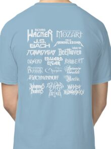 Heavy Metal-style Classical Composers Classic T-Shirt