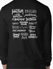 Heavy Metal-style Classical Composers Long Sleeve T-Shirt