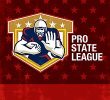 American Football Pro State League Poster Art by patrimonio