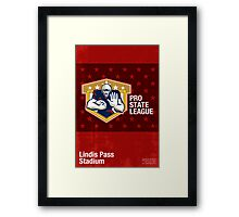 American Football Pro State League Poster Art Framed Print