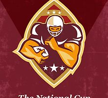 American Football National Cup Poster Art Retro by patrimonio