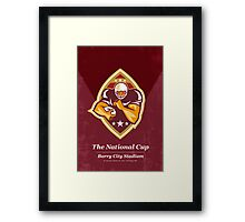 American Football National Cup Poster Art Retro Framed Print