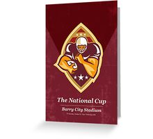 American Football National Cup Poster Art Retro Greeting Card