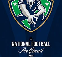 American National Football Pro Circuit Poster by patrimonio