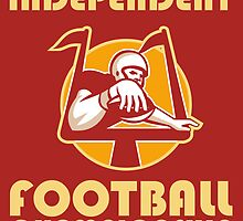 American Football Championship Poster Art by patrimonio