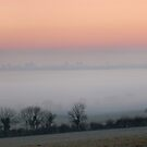 Glastonbury Winter Sunrise Panoramic  by Paul Shellard