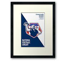American National Football Circuit Poster Framed Print