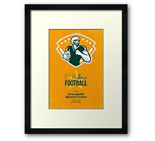 American All Star Football Retro Poster Framed Print