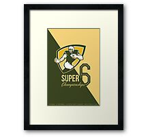 American Football Super 6 Championship Poster  Framed Print