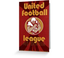 American United Football League Poster Retro Greeting Card