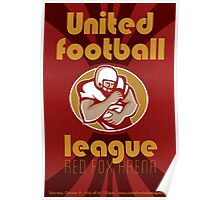 American United Football League Poster Retro Poster