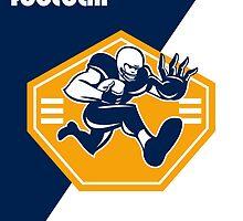American Super League Football Poster Retro by patrimonio