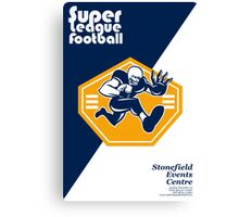 American Super League Football Poster Retro Canvas Print