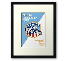 American Pro Football Championship Poster Framed Print