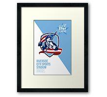 American Patriot Football All Star League Poster Framed Print