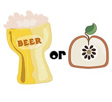 Beer or Apple by chrissymcyoung