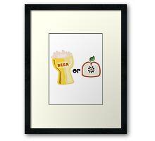 Beer or Apple Framed Print
