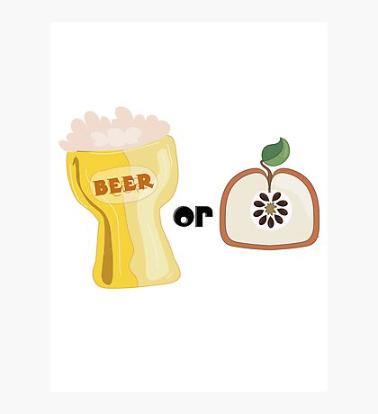 Beer or Apple Photographic Print