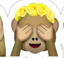 Flower Crown Monkeys Sticker