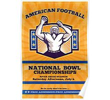 American Football National Bowl Poster Art Poster