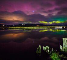 Aurora Australis at Franklin, Tasmania #6 by Chris Cobern