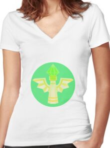 Wards are our Friends. Women's Fitted V-Neck T-Shirt