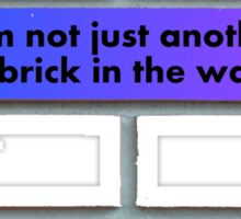 Just another brick (blue) Sticker