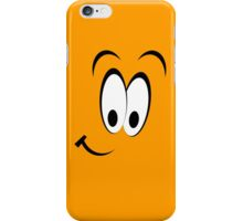 Orange smiley face case iPhone Case/Skin
