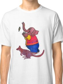 Elephant and Butterfly and Wallaby Classic T-Shirt