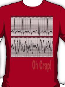 Funny Oh Crap Cardiac Rhythm T-Shirt