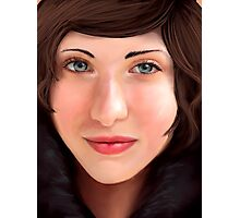 Woman in a Fur Coat Photographic Print