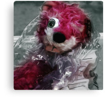 Pink Teddy Bear in evidence bag @ TV serie Breaking Bad Canvas Print